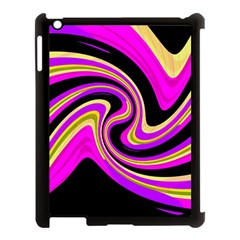 Pink and yellow Apple iPad 3/4 Case (Black)