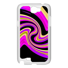 Pink and yellow Samsung Galaxy Note 2 Case (White)