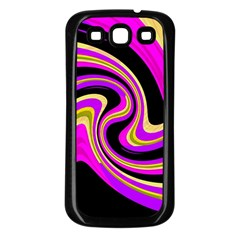 Pink and yellow Samsung Galaxy S3 Back Case (Black)