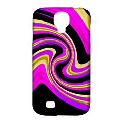 Pink and yellow Samsung Galaxy S4 Classic Hardshell Case (PC+Silicone)