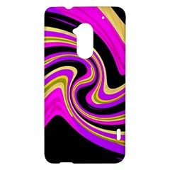 Pink and yellow HTC One Max (T6) Hardshell Case