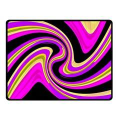 Pink and yellow Double Sided Fleece Blanket (Small)