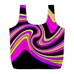Pink and yellow Full Print Recycle Bags (L)