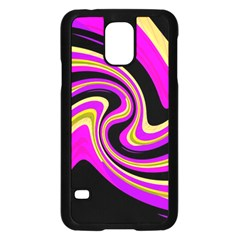 Pink and yellow Samsung Galaxy S5 Case (Black)
