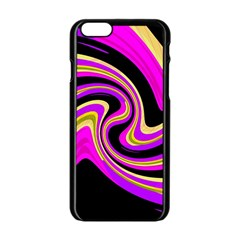 Pink and yellow Apple iPhone 6/6S Black Enamel Case