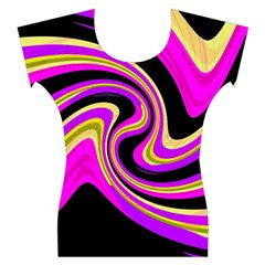 Pink and yellow Women s Cap Sleeve Top