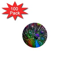 3d Peacock Pattern 1  Mini Magnets (100 pack)