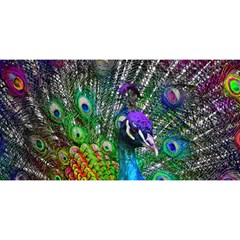 3d Peacock Pattern YOU ARE INVITED 3D Greeting Card (8x4)