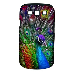 3d Peacock Pattern Samsung Galaxy S III Classic Hardshell Case (PC+Silicone)