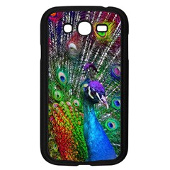 3d Peacock Pattern Samsung Galaxy Grand DUOS I9082 Case (Black)