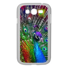 3d Peacock Pattern Samsung Galaxy Grand DUOS I9082 Case (White)