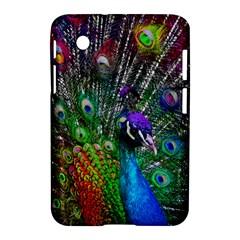 3d Peacock Pattern Samsung Galaxy Tab 2 (7 ) P3100 Hardshell Case