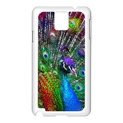 3d Peacock Pattern Samsung Galaxy Note 3 N9005 Case (White)