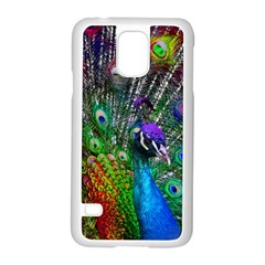 3d Peacock Pattern Samsung Galaxy S5 Case (White)