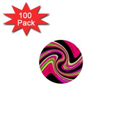 Magenta and yellow 1  Mini Buttons (100 pack)