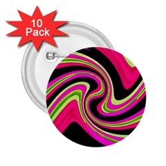 Magenta and yellow 2.25  Buttons (10 pack)