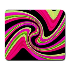 Magenta and yellow Large Mousepads