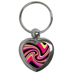 Magenta and yellow Key Chains (Heart)