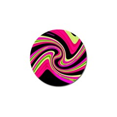 Magenta and yellow Golf Ball Marker (10 pack)