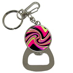 Magenta and yellow Bottle Opener Key Chains