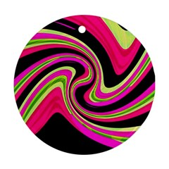 Magenta and yellow Round Ornament (Two Sides)