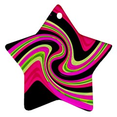 Magenta and yellow Star Ornament (Two Sides)