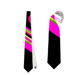 Magenta and yellow Neckties (One Side)
