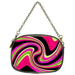 Magenta and yellow Chain Purses (One Side)