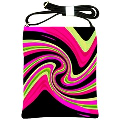 Magenta and yellow Shoulder Sling Bags