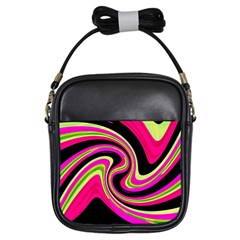 Magenta and yellow Girls Sling Bags