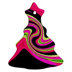 Magenta and yellow Christmas Tree Ornament (2 Sides)
