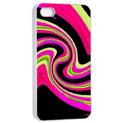 Magenta and yellow Apple iPhone 4/4s Seamless Case (White)