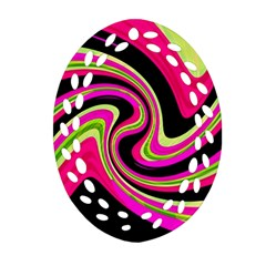 Magenta and yellow Ornament (Oval Filigree)