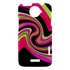 Magenta and yellow HTC One X Hardshell Case