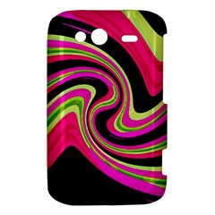 Magenta and yellow HTC Wildfire S A510e Hardshell Case