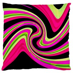 Magenta and yellow Large Cushion Case (Two Sides)