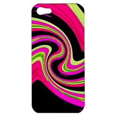 Magenta and yellow Apple iPhone 5 Hardshell Case