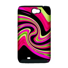 Magenta and yellow Samsung Galaxy Note 2 Hardshell Case (PC+Silicone)