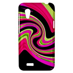 Magenta and yellow HTC Desire VT (T328T) Hardshell Case