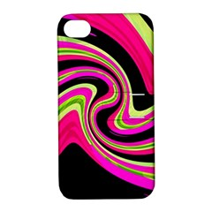 Magenta and yellow Apple iPhone 4/4S Hardshell Case with Stand