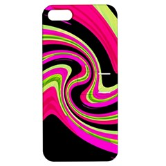 Magenta and yellow Apple iPhone 5 Hardshell Case with Stand