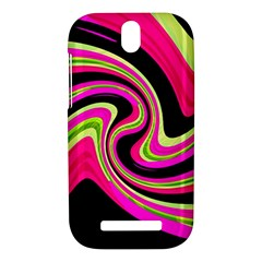 Magenta and yellow HTC One SV Hardshell Case