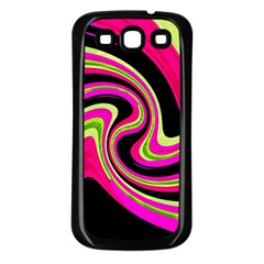 Magenta and yellow Samsung Galaxy S3 Back Case (Black)