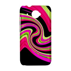 Magenta and yellow HTC Desire 601 Hardshell Case