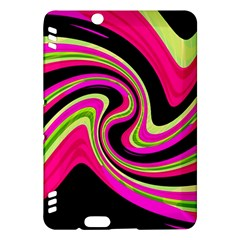 Magenta and yellow Kindle Fire HDX Hardshell Case