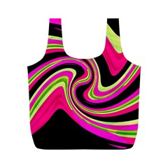 Magenta and yellow Full Print Recycle Bags (M)