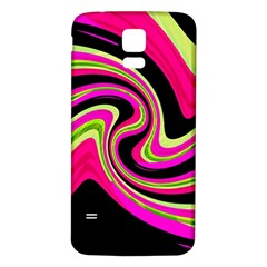 Magenta and yellow Samsung Galaxy S5 Back Case (White)