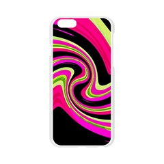 Magenta and yellow Apple Seamless iPhone 6/6S Case (Transparent)
