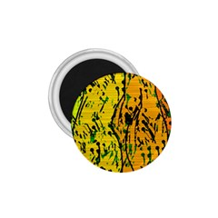 Gentle yellow abstract art 1.75  Magnets