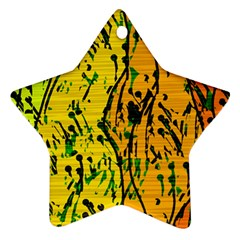 Gentle yellow abstract art Ornament (Star)